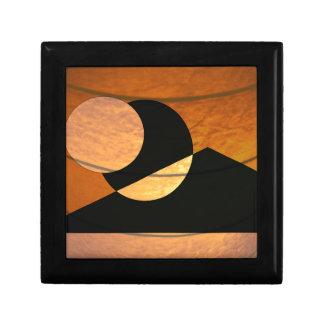 Boîte À Souvenirs Lueur de planètes, noir et cuivre, conception