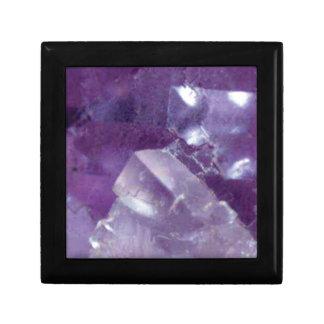 Boîte À Souvenirs lueur pourpre de pierre