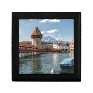 Boîte À Souvenirs Luzerne de pont de chapelle, Suisse