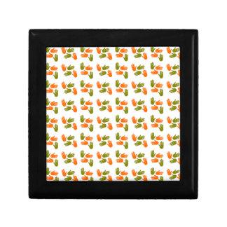 Boîte À Souvenirs Main Pattern green orange