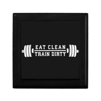 Boîte À Souvenirs Mangez propre, train sale - séance d'entraînement