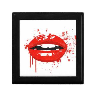 Boîte À Souvenirs Maquillage rouge de mode de beauté de baiser de