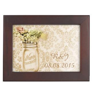 Boîte À Souvenirs mariage floral occidental de pot de maçon de