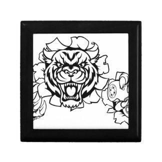 Boîte À Souvenirs Mascotte animale de Gamer d'Esports de tigre