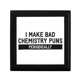 Boîte À Souvenirs Mauvais calembours de chimie