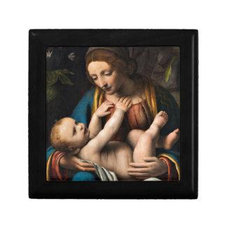 Boîte À Souvenirs Med Kristusbarnet de Madonna