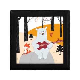 Boîte À Souvenirs Mignon chantez un loup de renard de chanson d'été