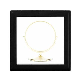 Boîte À Souvenirs Miroir de maquillage d'or