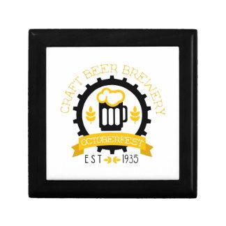 Boîte À Souvenirs Modèle de conception de logo de bière avec la