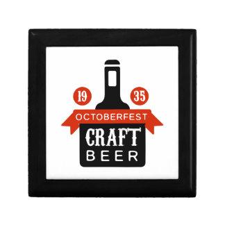 Boîte À Souvenirs Modèle de conception de logo de bière de métier