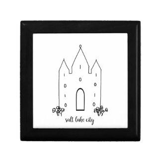 Boîte À Souvenirs moderne simple de temple de Salt Lake City Utah