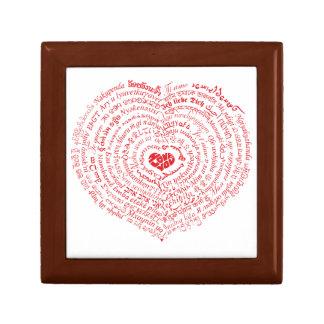 Boîte À Souvenirs Monde de boîte de souvenir de coeur d'amour
