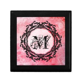 Boîte À Souvenirs Motif chic de vieux rose rose romantique