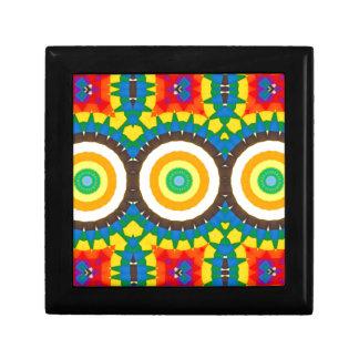 Boîte À Souvenirs Motif coloré de point de kaléidoscope