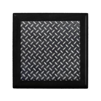 Boîte À Souvenirs motif de diamant-plat