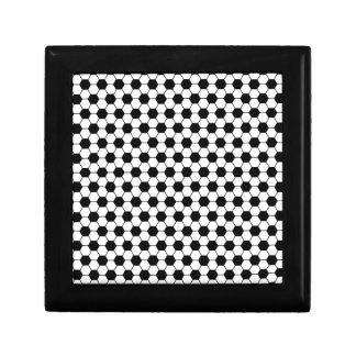 Boîte À Souvenirs Motif de football en noir et blanc