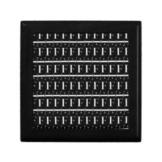 Boîte À Souvenirs Motif d'initiale de monogramme, lettre F dans le