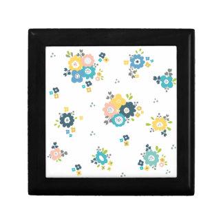 Boîte À Souvenirs Motif floral coloré