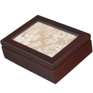 Boîte À Souvenirs motif floral sensible, doucement