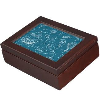 Boîte À Souvenirs Motif graphique nautique de modèle