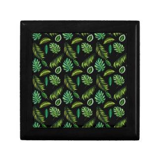 Boîte À Souvenirs Motif tropical Tiki floral fait main de feuille