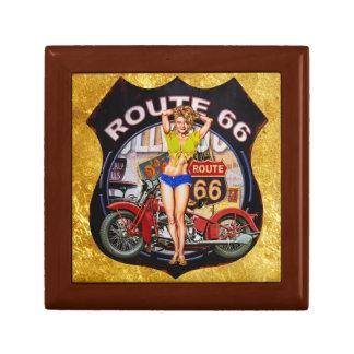 Boîte À Souvenirs Moto de l'itinéraire 66 de l'Amérique avec une