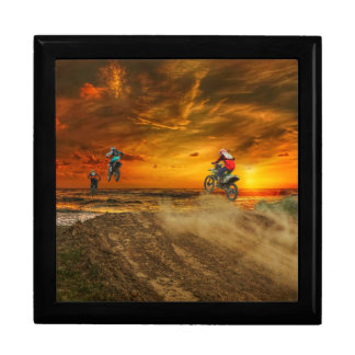Boîte À Souvenirs Motocross au crépuscule