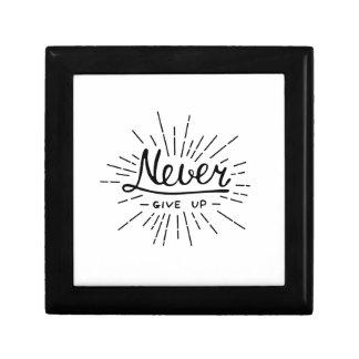 Boîte À Souvenirs N'abandonnez jamais