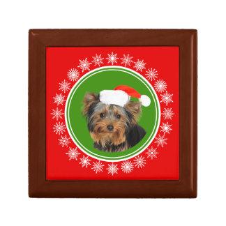 Boîte À Souvenirs Noël mignon de casquette de Yorkshire Terrier Père