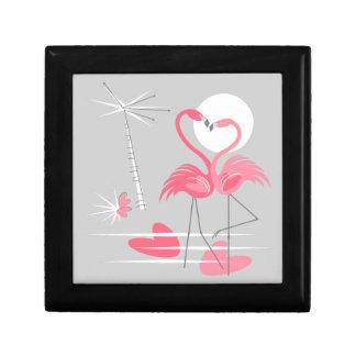 Boîte À Souvenirs Noir de boîte-cadeau d'amour de flamant