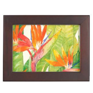 Boîte À Souvenirs Oiseau des fleurs   du paradis tropical