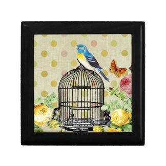 Boîte À Souvenirs oiseau floral, art, conception, beau, nouvelle,