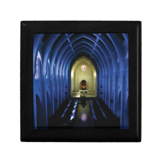Boîte À Souvenirs ombres de l'église bleu-foncé
