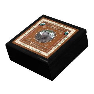 Boîte À Souvenirs Opossum - boîte-cadeau en bois de déviation avec