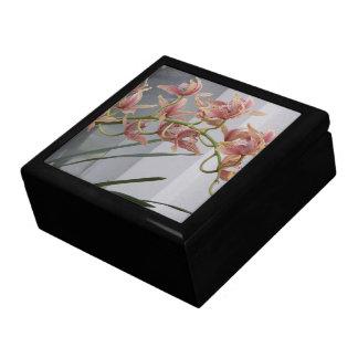 Boîte À Souvenirs Orchidées roses de Cymbidium florales