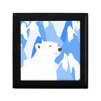 Boîte À Souvenirs Ours blanc dans la conception froide