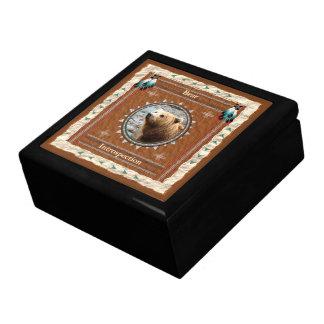 Boîte À Souvenirs Ours - boîte-cadeau en bois d'introspection avec