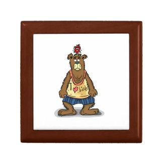 Boîte À Souvenirs Ours de Brown de bande dessinée se tenant sur ses