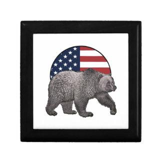 Boîte À Souvenirs Ours gris américain