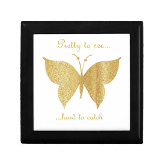 Boîte À Souvenirs Papillon de parties scintillantes - assez pour