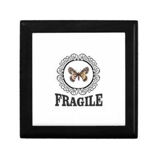 Boîte À Souvenirs papillon fragile rond