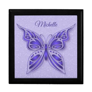 Boîte À Souvenirs Papillon pourpre ornemental