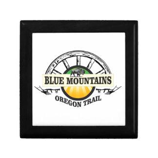 Boîte À Souvenirs Passage bleu d'ot de montagnes