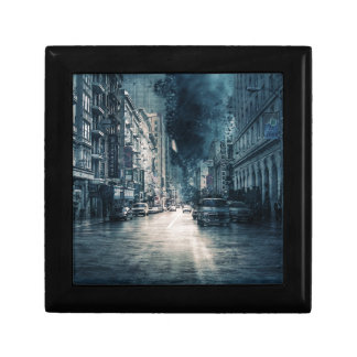 Boîte À Souvenirs Paysage urbain orageux