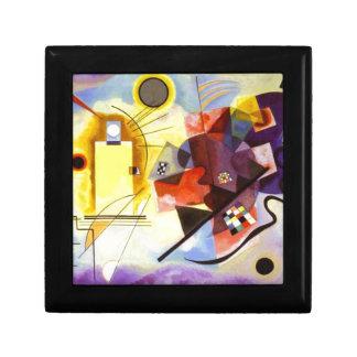 Boîte À Souvenirs Peinture abstraite bleue rouge jaune de Kandinsky