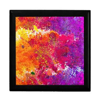 Boîte À Souvenirs Peinture abstraite colorée mignonne d'éclaboussure