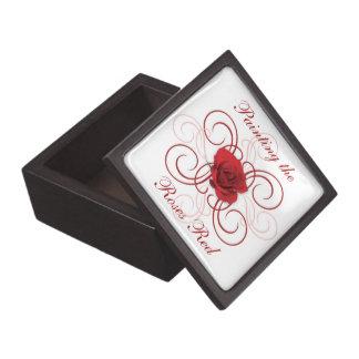 Boîte À Souvenirs Peinture du rouge 3 de roses