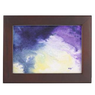Boîte À Souvenirs Peinture jaune bleue heureuse calme d'abrégé sur