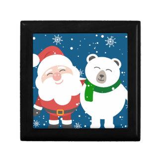 Boîte À Souvenirs Père Noël et l'ours