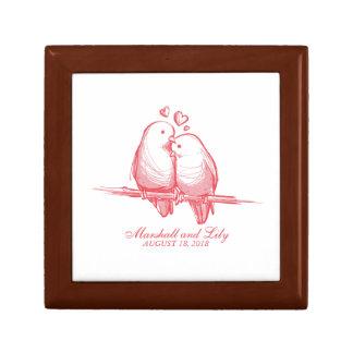 Boîte À Souvenirs Perruches douces Valentine épousant la